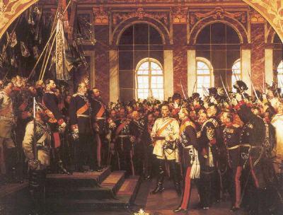 18.01.1871: Proklamation des deutschen Kaiserreiches im Spiegelsaal von Schloss Versailles