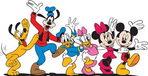 Entenhausen pluto goofy donald duck daisy minnie und micky maus