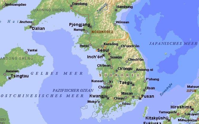 Südkorea Karte.Aref Hintergrund Infos Zur Teilung Von Korea Und Zum Koreakrieg 1950