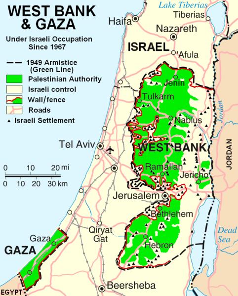 Die Geschichte des Konfliktes zwischen Palästina und