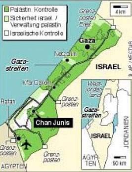 Karte - Gazastreifen